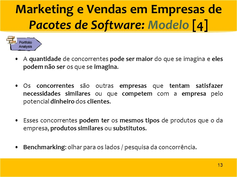 Marketing e Vendas em Empresas de Pacotes de Software: Modelo [4]